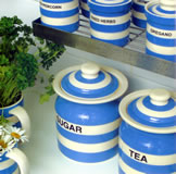 TG Green Cornish Blue Sugar & Tea Storage Containers - Pottery for the Kitchen or as Gifts